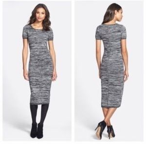 FRENCH CONNECTION gray sweater midi dress